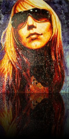 La Lionne<br>Encaustic on panel - 64x48++