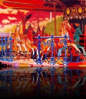 Carrousel++Huile sur bois 48'' x 72''