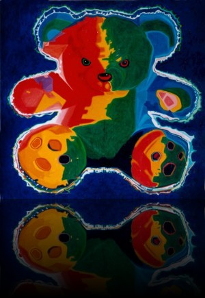 Teddy Bear++Huile sur bois 48'' x 48''