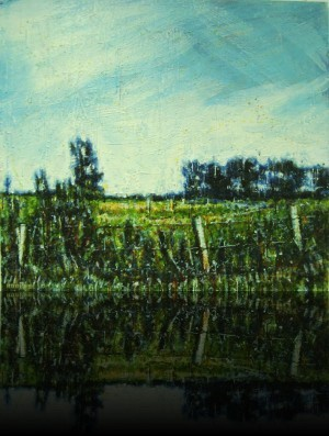 CLOTURE<br>Encaustic on panel -  33x44++Available at Gallery 2000