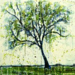 Petit arbre verte (Vendu/Sold)Encaustic on panel -  36x36