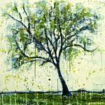 Petit arbre verte (Vendu/Sold)Encaustic on panel -  36x36