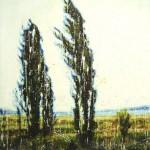 Cyprès (Vendu/Sold)Encaustic on panel -  60x40