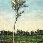 Le frêleEncaustic on panel -  48x36
