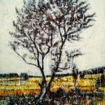 Arbre d'automneEncaustic on panel -  48x36