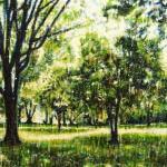 Forêt verte 2Encaustic on panel -  32x44