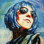 Space Girl (Vendu/Sold)Encaustic on panel - 24x36