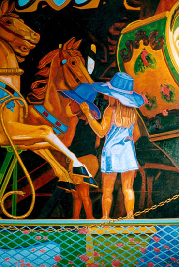 Fillette et carrousel
