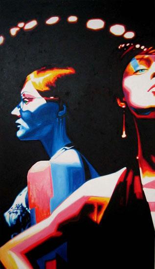Télépathe<br>Oil on canvas - 48x84