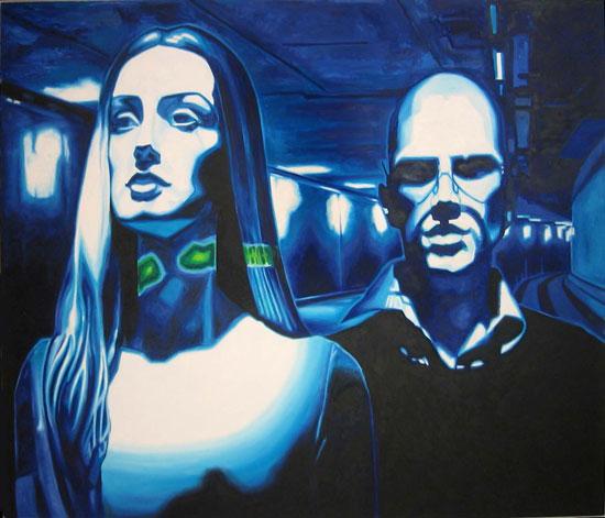 Le Tunnel<br>Oil on canvas - 84x72