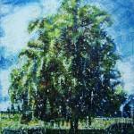 ChêneEncaustic on panel -  30x24