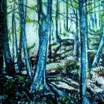 Forêt verticaleEncaustic on panel -  48x36