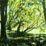 Forêt verteEncaustic on panel -  36x48