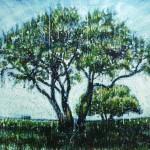 Love treeEncaustic on panel -  32x40